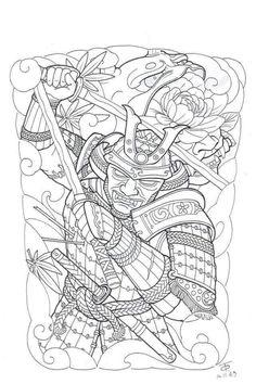 Warrior Tattoo Sleeve, Tattoo Samurai, Sleeve Tattoos, Japanese Tattoo Art, Japanese Art, Ancient Egypt Art, Full Back Tattoos, Mythology Tattoos, Japan Tattoo