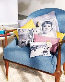 Turn a photo into a throw pillow with ingenious paper-backed linen that feeds into home printers. Create a Photo Throw Pillow for Valentine's Day.