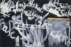 Joseph Beuys, Virgin, April 4, 1979 / June 23, 1979. Chalk, tempera, wood, and soap on blackboard, 33 1/16 x 49 5/16 inches (84.2 x 125.3 cm)