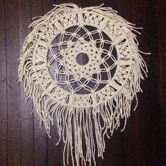 It's round and ropey, I like it a lot So come on, be quick And buy it from my shop! ⚙ Round Macrame Wall Hanging available now❕
