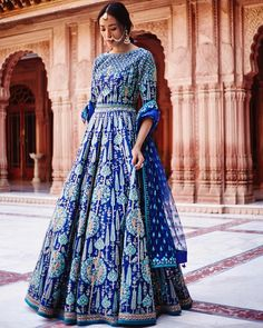 "5,901 Likes, 33 Comments - Anita Dongre (@anitadongre) on Instagram: ""A deep hue of ink blue accented with our signature gota patti embroidery and intricate zardosi work…"""