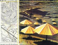 Umbrella Yellow II (California site) by Christo via Sara M.