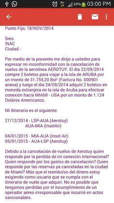 Viajeros de Aereotuy exigen reembolso de vuelos suspendidos a Aruba