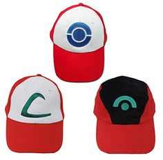 Ash Ketchum Hat Cap Set for Kids 3 Styles | Your #1 Source for Toys and Games