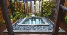 cool Nice Outdoor Spa & Hot Tub Design With Rock - Stylendesigns.com! Check more at https://www.stylendesigns.com/nice-outdoor-spa-hot-tub-design-with-rock/