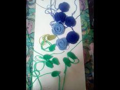 Crosetam trandafiri si frunze pentru cizme, palarii, gentute etc - YouTube