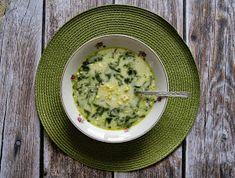 Zupa ze szpinakiem z kaszą jaglaną