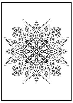 Color are for real- Free easy mandala coloring page