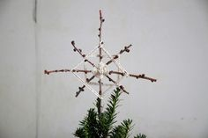 DIY: How to make a foraged tree topper. From Gardenista.