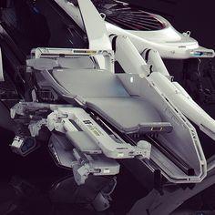 Ambulance Mech Bed #blackphoenixproject #robotics #design #conceptart #vitalybulgarov by vitalybulgarov