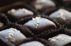 My new addiction...dark chocolate carmels with sea salt.