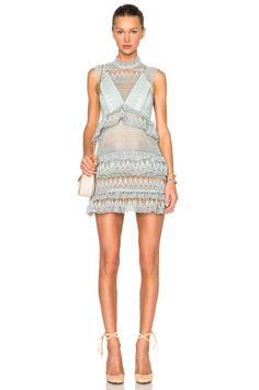 Teardrop Guipere Paneled Mini Dress