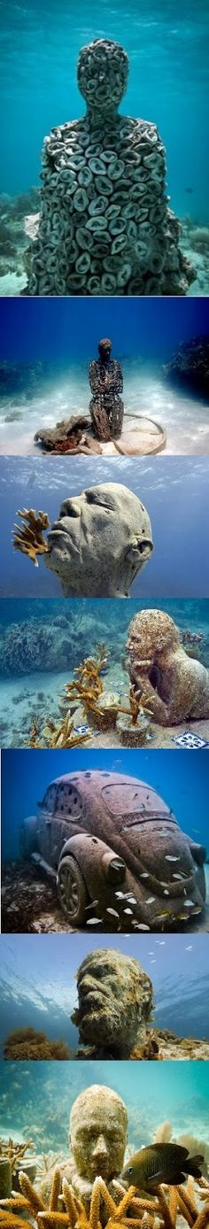 Cancun Underwater Museum in Mexico. Check out the worlds 10 most unusual museums…