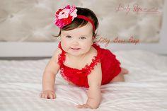 Día de San Valentín chica vestido encaje rojo por LillyBowPeep, $19,99