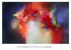 Eelco Maan  I  Sanctuary, 140 x 90 cm, mixed media on canvas I SOLD