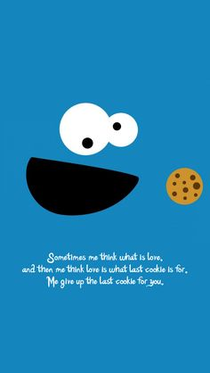 Do you have the last cookie to give? Cookie Monster - @mobile9