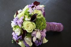 The color palette: greens, lavenders, deep burgandy