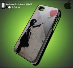 Ballon Girl - iPhone Case iPhone 4 Case iPhone 4S Case iPhone 5 Case iPhone 4 / 4S / 5 Case Hard Cover (DEFAULT : iPhone 5 Black Case)