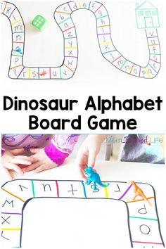 Dinosaur Alphabet Board Game