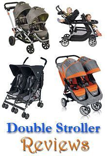 So many double stroller choices for twins: umbrella, jogger, and tandem. Check out these reviews! #doublestrollers #twins #twinsstrollers