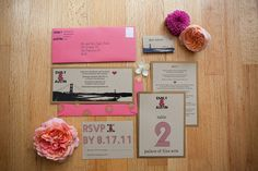 Mad Men served as the inspiration for our candy and sweets filled Sixties Vintage Wedding Inspiration shoot. Pink Wedding Invitations, Custom Invitations, Invitation Design, Invites, Handmade Invitations, Invitation Ideas, Invitation Suite, Wedding Men, Wedding Gifts