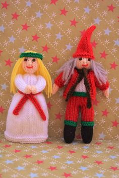 Looking for your next project? You're going to love Doll Knitting Pattern - St Lucia & Elf by designer J.E. Marshall.