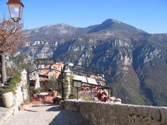 Gourdon in the Cote d'Azur (restaurant with a view, Nid d'Aigle)