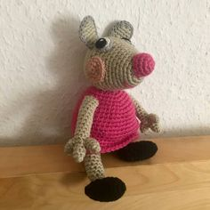 Crochet Necklace, Etsy, Peppa Pig, Sheep, Deutsch, Tutorials