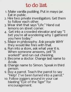 I want to do all of these!
