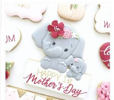 Duck Cookies, Mother's Day Cookies, Bear Cookies, Spice Cookies, Rose Meringue Cookies, Rose Cookies, Flower Cookies, Mother's Day Theme, Baby Theme