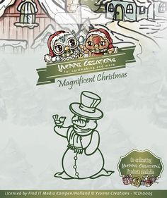 Die - Yvonne Creations - Magnificent Christmas - Snowman