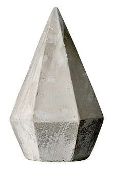 BLOOMINGVILLE Concrete diamond ornament