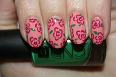 IN BLOOM- Click the photo to read the full tutorial from Polish You Pretty!