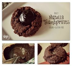 Boozy Nutella Chocolate Thumbprint Cookies - Gluten-Free!