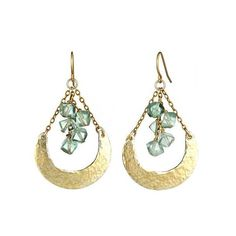 Crescent florite earrings by Alicia Marylin Designs