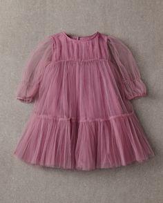 Nellystella Love Alice Dress in Lavender Herb Girls Fall Dresses, Little Girl Dresses, Flower Girl Dresses, Flower Girls, Little Girl Fashion, Kids Fashion, Puffy Skirt, Tiered Dress, Violet