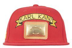 save off 87926 2438a Karl Kani New Era Red Snapback Hat 9fifty  NewEra Snapback Hats, 90s  Fashion,