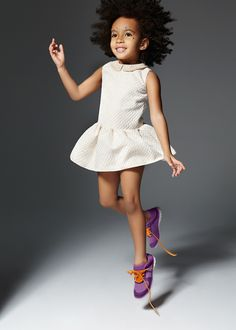 Party dress and purple sneaks. #designer #kids #fashion
