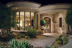 beautiful entryway...add stone to front entry!  Lovely!