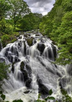 Swallow Falls, North Wales - would love to go gorge walking here again :)