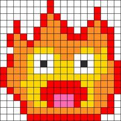 Calcifer - Howl's Moving Castle Perler Bead Pattern