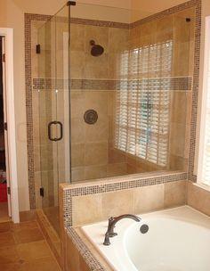 Adorable Master Bathroom Shower Remodel Ideas - Page 33 of 60 Master Bathroom Shower, Bathroom Renos, Bathroom Showers, Bathroom Ideas, Tiled Showers, Bathroom Layout, Design Bathroom, Bathroom Interior, Modern Bathroom