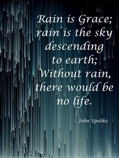 Quotes Sayings and Affirmations A quote about rain bringing life! Seasons of rain bring life! Morning Rain Quotes, Rainy Day Quotes, Quotes On Rain, Quotes About Rain, New Quotes, Funny Quotes, Life Quotes, Inspirational Quotes, Qoutes