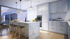 Familijny 1 - DOMY Z WIZJĄ 20 M2, Kitchen Island, Table, Furniture, Home Decor, Farmhouse, Exterior, Blue Prints, House