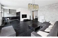 Simple Interior for Modern Minimalist Apartment - decoratoo Home Interior, Living Room Interior, Living Room Decor, Interior Decorating, Interior Design, Living Rooms, Simple Interior, Black And White Living Room, Living Room Grey