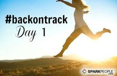 Happy Friday, everyone  Welcome to August! It's Day 1 of our #backontrack #challenge today. WOOOHOOO! Check in on our pins using the #backontrack hashtag to keep yourself accountable to your #goals all month long. You can learn more about the challenge here: http://www.sparkpeople.com/blog/blog.asp?post=back_on_track_a_consistency_challenge_for_august  For Day 1, tell us: What are you planning to work on this month to get you one step closer toward your goals? Consistency is the key…