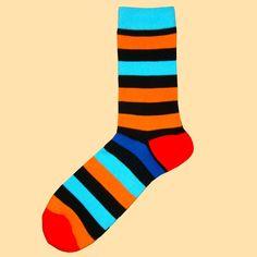 multi stripe|blue/black/red/yellow/orange/pink|cotton socks|Bassin and Brown – Bassin And Brown Color Stripes, Stripes Design, Multi Coloured Socks, Brown Socks, Toe Socks, Royal Red, Striped Socks, Red Heels, Orange Pink
