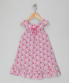 Take a look at this Fuchsia Buttercup Yoke Dress - Toddler & Girls on zulily today!
