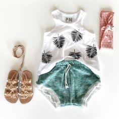 Sandals: kandelphy, Shorties: childhoods clothing, Top: finomenon kids, Headwrap: Junepark