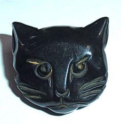 Bakelite Cat Button